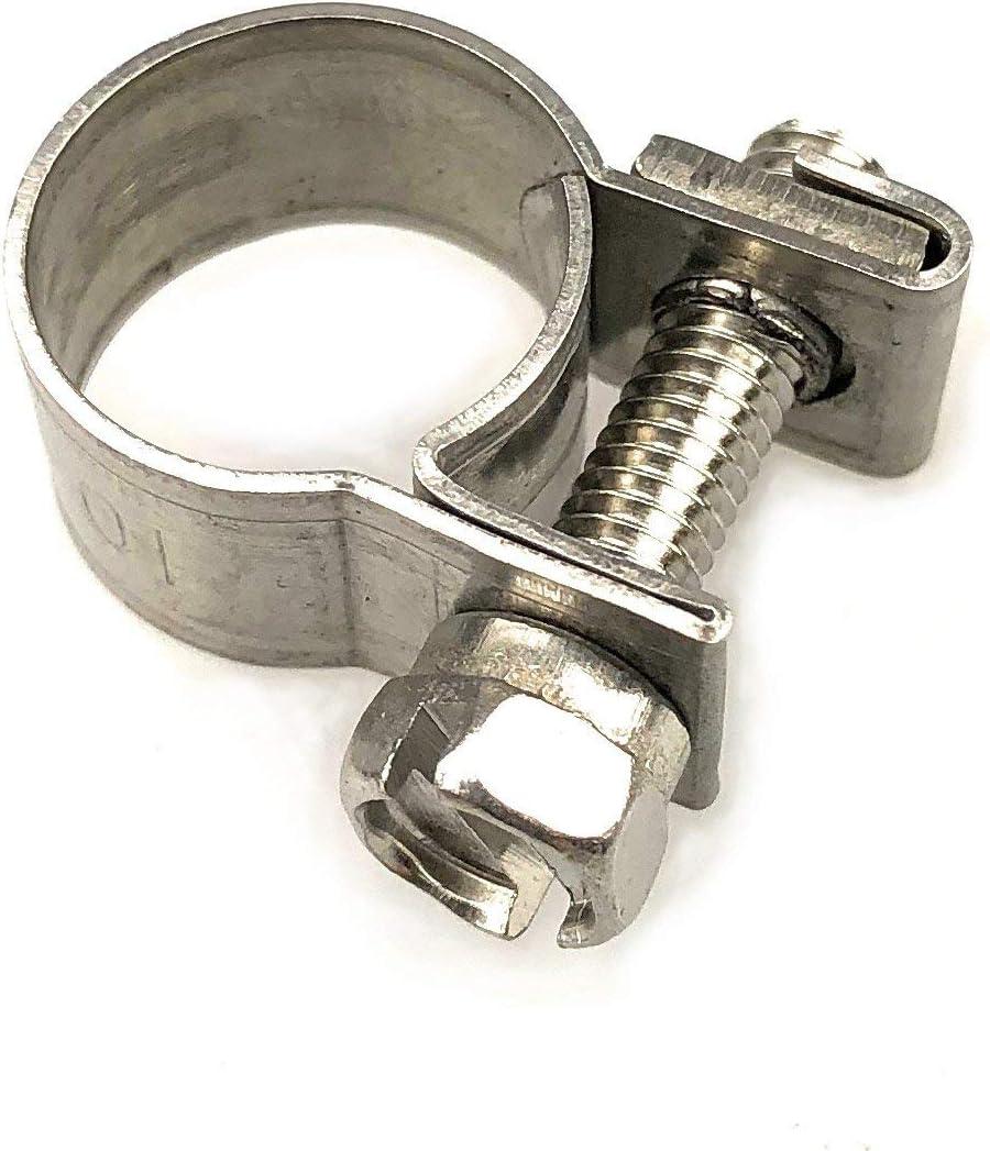 Paquete de 5 abrazaderas de tubo de gasolina de acero inoxidable mini tubo de acero inoxidable (7-9 mm)