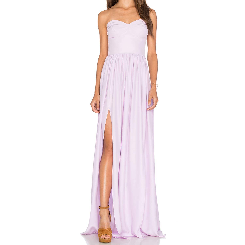 Amanda Uprichard Womens Silk Gown Maxi Dress