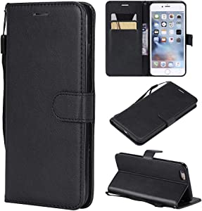 iPhone 6S Plus Case, iPhone 6 Plus Case Wallet (Not for iPhone 6 4.7inch), Leather Cases Flip Folio Book Case Wallet Cover with Kickstand Card Slots for iPhone 6 plus/6S Plus 5.5inch - Black