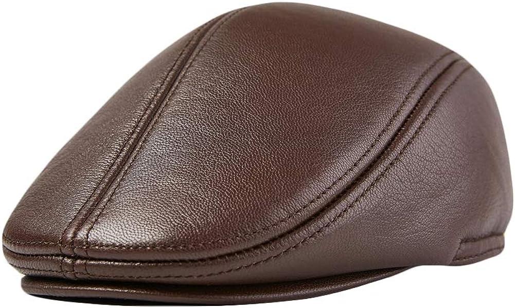 Liveinu Men Leather Cap...