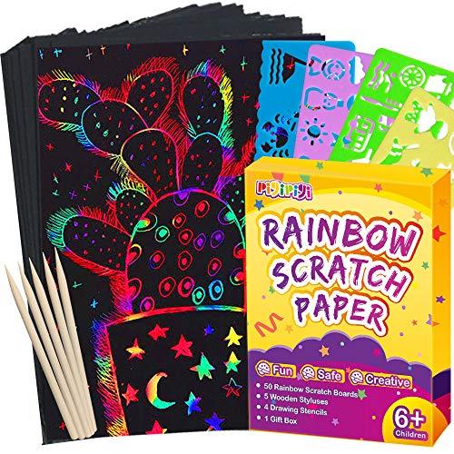 🥇 Pigipigi – Juego de 59 piezas de papel de rascar para niños