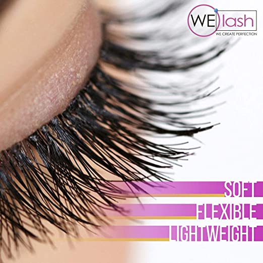 0e9d3c9cec4 Amazon.com : Best Professional R Curl Individual Eyelash Extensions Black  Color - Flat Soft Lash Extensions Natural 20 Mixed 7-15 mm Tray by WElash  (Mix R ...