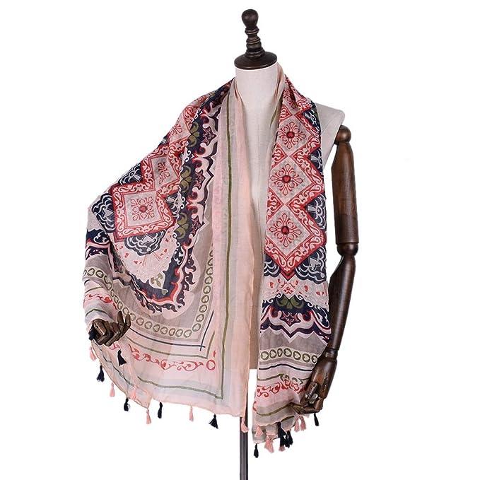 Zhuxin Foulard arabo Sciarpa Donna Musulmano Totem Stampa Sciarpa Voile  Wrap Beach Cover Up Head Accessorio 274c740d6970