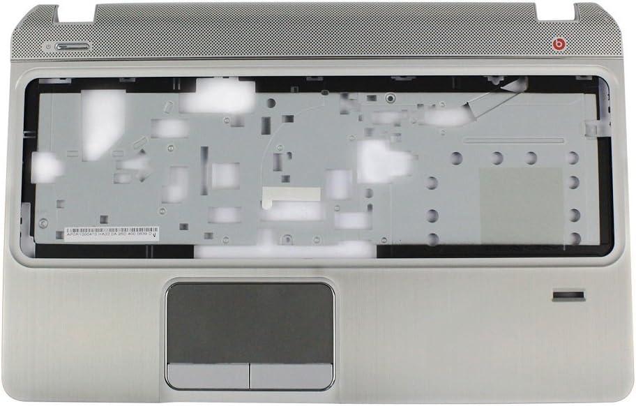 Ivos Replacement Laptop Silver Palmrest Top Cover Upper Case without Touchpad Sensor Board for HP Pavilion Envy M6 M6-1000 M6-1125dx M6-1035dx M6-1009DX AP0R1000410 705196-001 690232-001