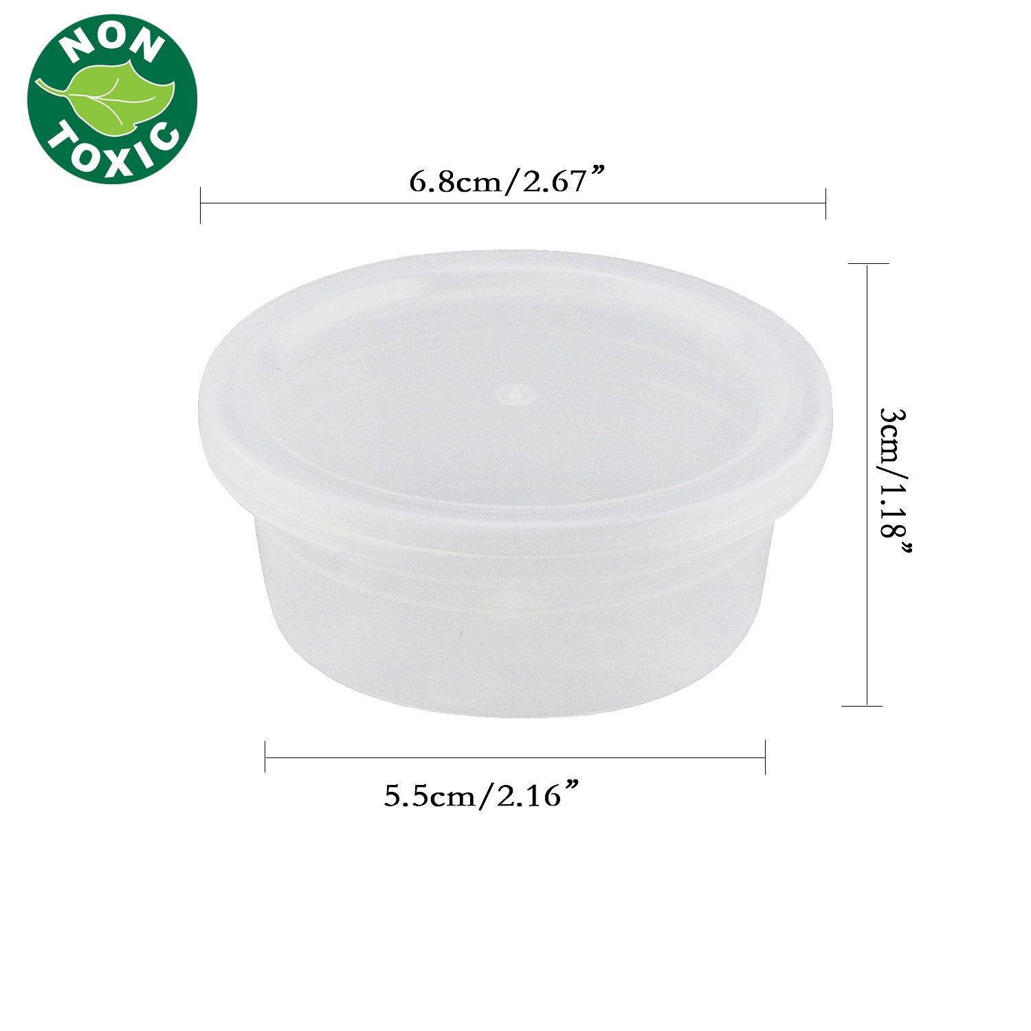 Slime Storage Jars - 15 Pack Foam Ball Storage Containers with Lids for All Your Glue Putty Making