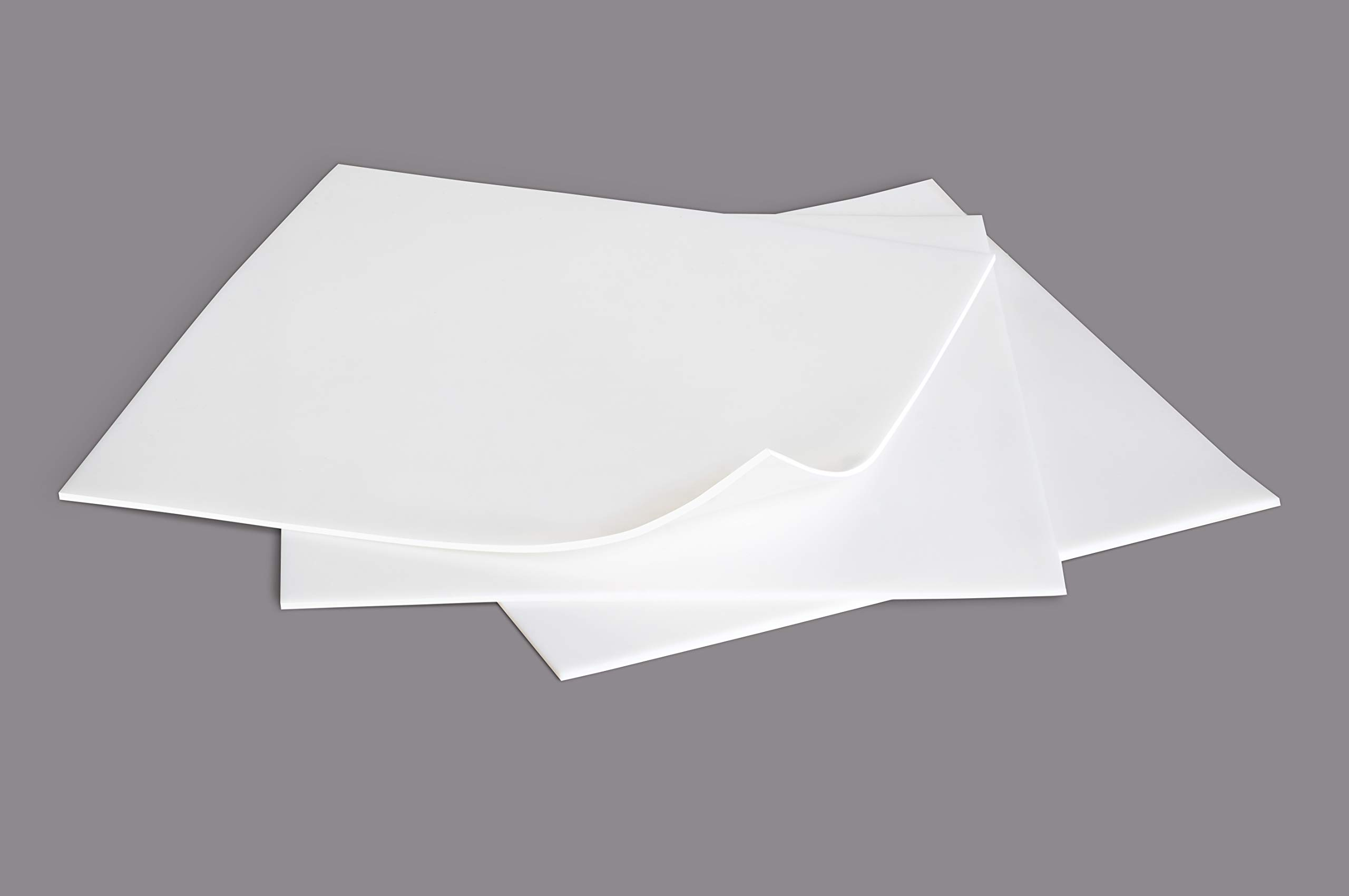 Food Grade Silicone Rubber Sheet 6x6-inch by 1/16 White [3-pack] Duro Shore A65 High Temperature Heavy Duty for Gaskets DIY Food Covers Lids Sealing Material Supports Microwave Oven Protection