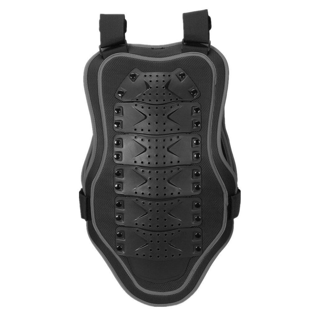 Geritunus Motorbike Body Chest Spine Protector Armor Vest Protective Gear for Dirtbike Bike Motorcycle Motocross Skiing Snowboarding (Color : Black, Size : L)