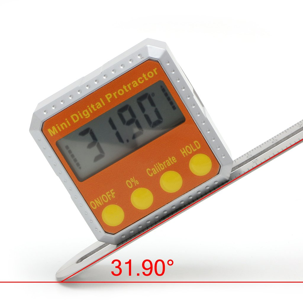Angle Gauge 360° Digital Protractor Inclinometer Electronic Level Box Magnetic By HittecH