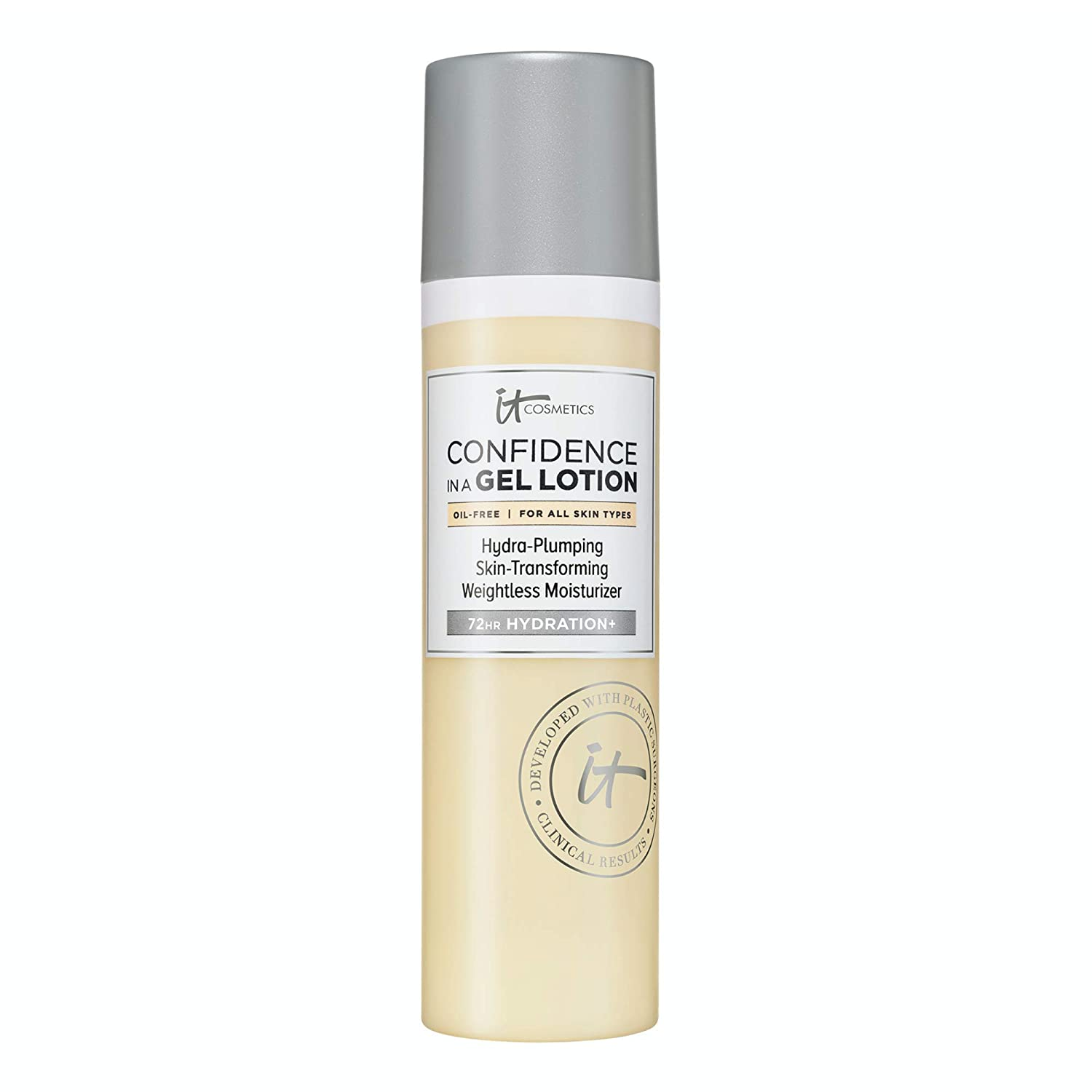 IT Cosmetics Confidence in a Gel Lotion - Oil-Free Face Moisturizer - Lightweight & Hydrating - With Ceramides - 2.5 fl oz: Beauty