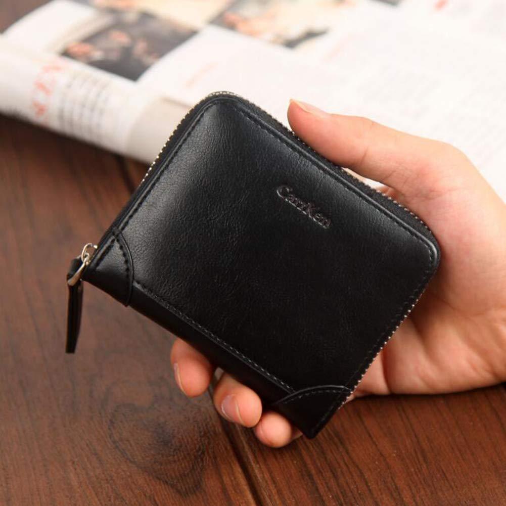 G 11.5x2.5x10.5CM Men's Wallets, MultiFunction Zipper Coin Purse Simple Casual Card Package Fashion Money Clip,A,11.5x2.5x10.5CM