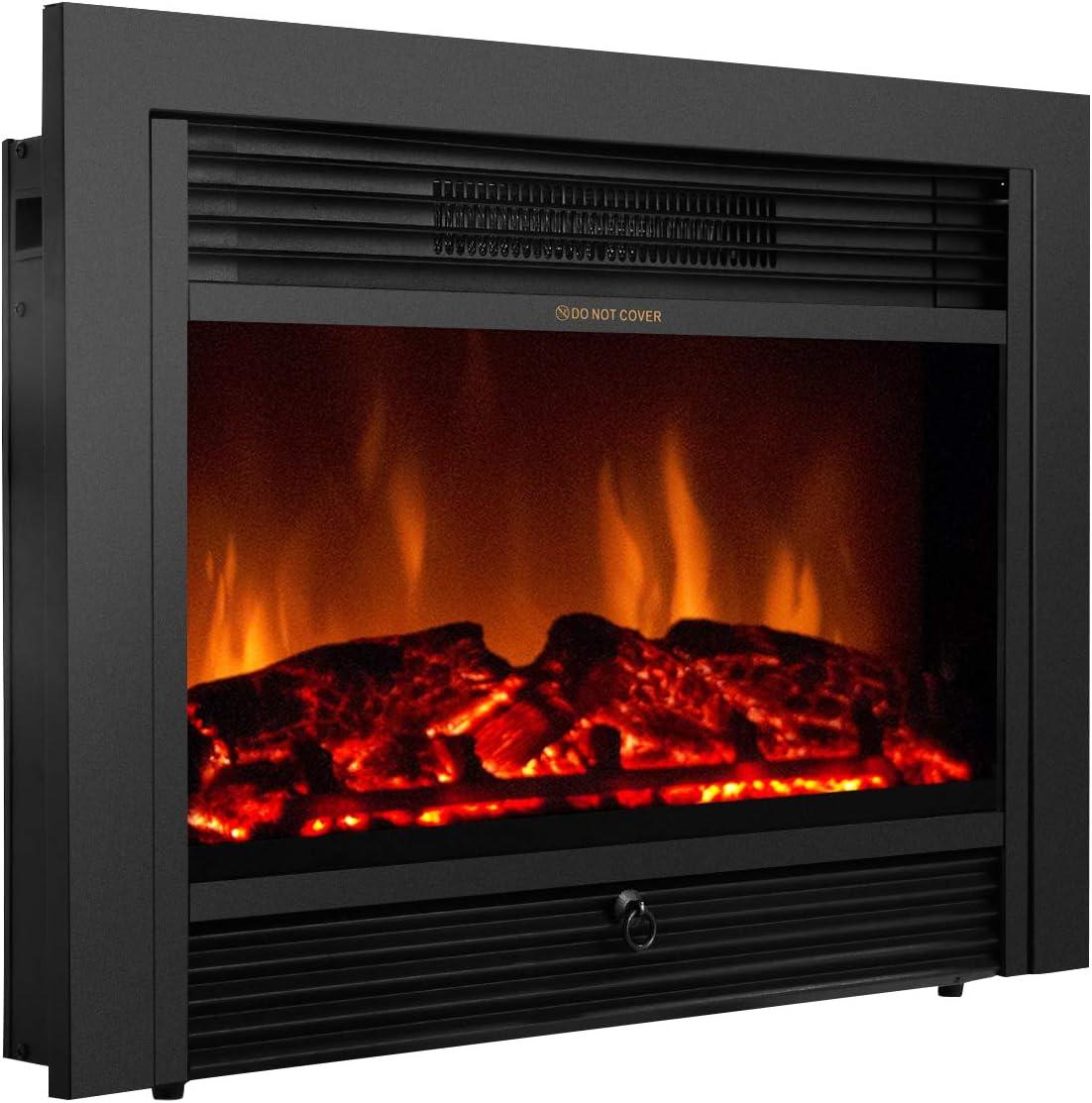 Amazon Com Giantex 28 5 Electric Fireplace Insert Recessed