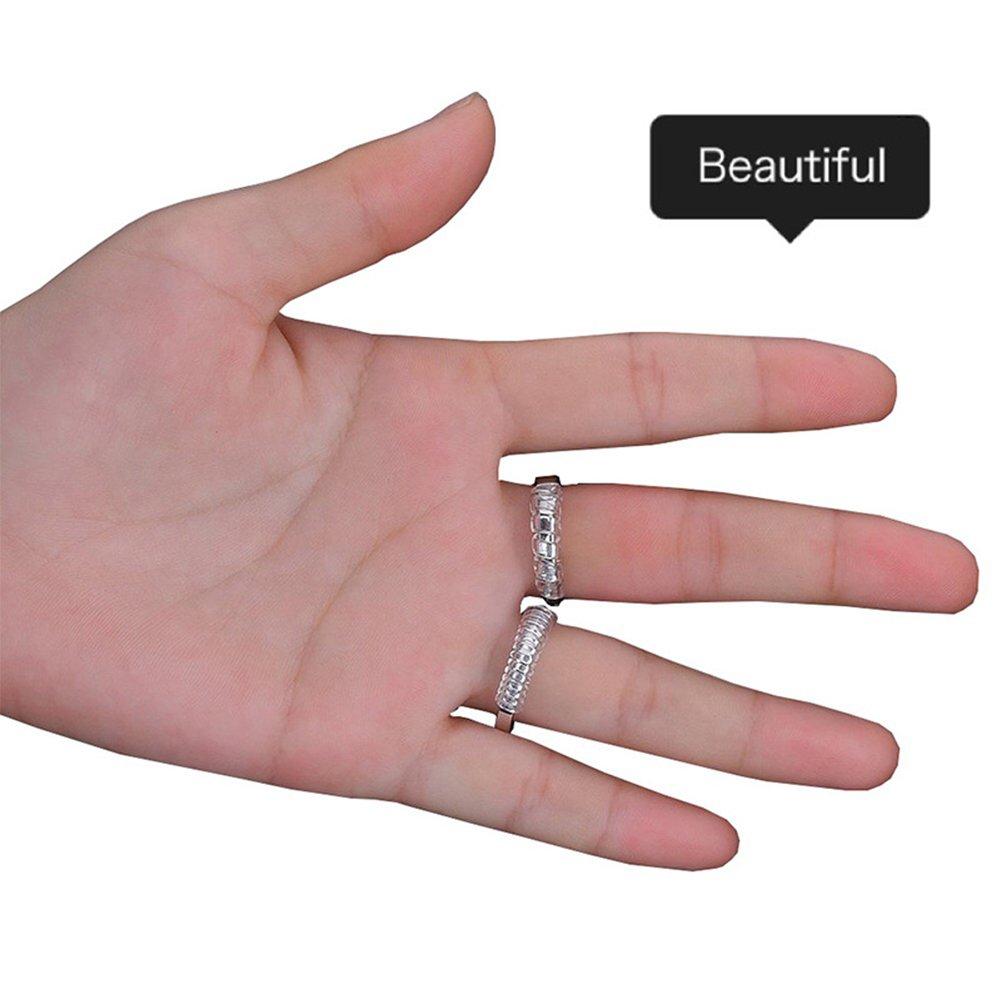 Zantec Ajusteur de bague pour anneaux l/âches Ajusteur de taille danneau 3mm 5mm pour les hommes et les femmes