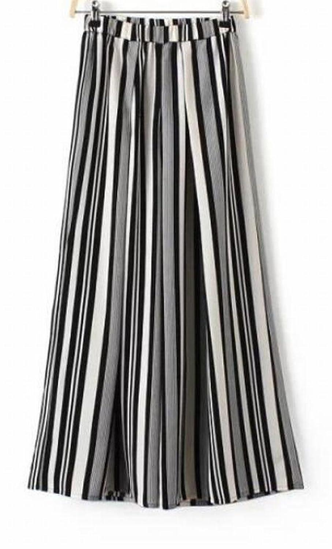 Generic Womens Comfy Stripe Trim-Fit Sexy Pants Palazzo Pants