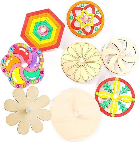 Joyibay 24PCS Spinning Toy Juguete de Madera para Niños Spinning ...