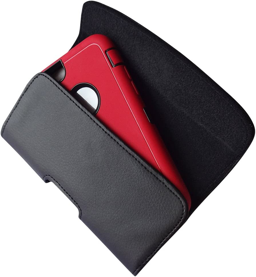 iPhone 8 Plus 7 Plus Belt Clip Case De-Bin iPhone Xs Max Holster Premium Leather Holster Pouch Case with Belt Clip for iPhone Xs Max //6 Plus//6S Plus Fits Phone w//Otterbox Case//Lifeproof on