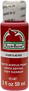 Apple Barrel Acrylic Paint in Assorted Colors (2 oz), 21469, Flag Red