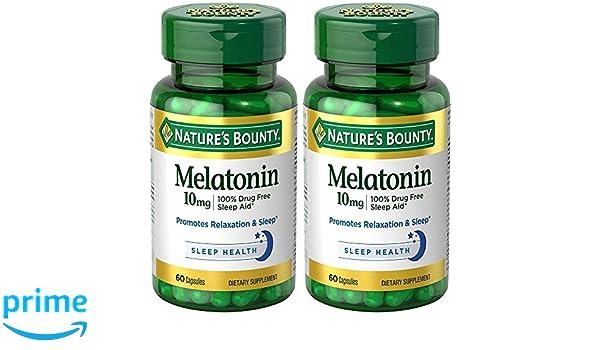 Amazon.com: Melatonin 10 mg, 2 Bottles (60 Count): Health & Personal Care