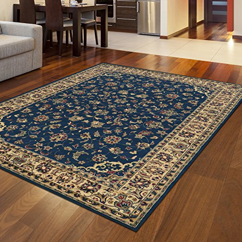 4'11' Radici Rugs (Radici 953 CASTELLO Rugs, 3-Feet 3 by 4-Feet 11-Feet, Blue)