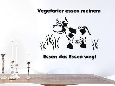 Grazdesign Wandtattoo Kuche Lustig Mit Kuh Spruch Vegetarier Kuhlschrank Aufkleber 49x40cm 091 Gold Amazon De Kuche Haushalt