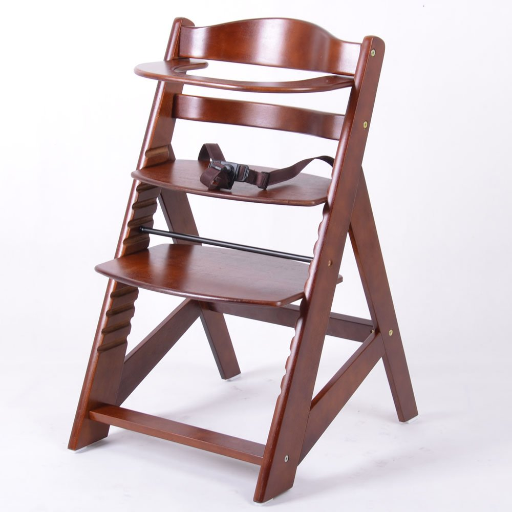 Chaise Haute en bois Ajustable Chaise b/éb/é Escalier chaise haute BRUN HC2533-D02 G