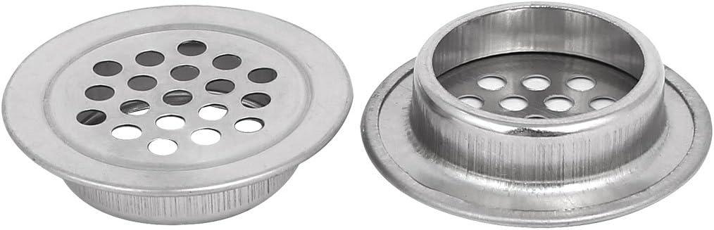 sourcingmap 29mm Dia inferior inoxidable redondas de acero del agujero del acoplamiento del aire respiraderos de la lumbrera 20pcs