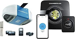 Chamberlain Group B550 Drive Garage Door Opener & MyQ Smart Garage Door Opener Chamberlain MYQ-G0301 - Wireless & Wi-Fi Enabled Garage Hub with Smartphone Control, 1 Pack, Black