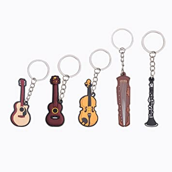 WANDIC - Llavero de instrumento musical creativo de color ...