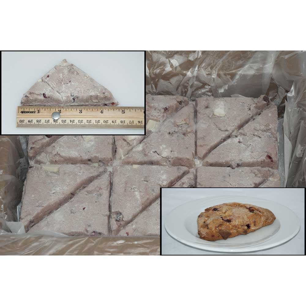 Pillsburry Freezer to Oven White Chocolate Raspberry Scone 3.75 ounce each -- 96 per case.