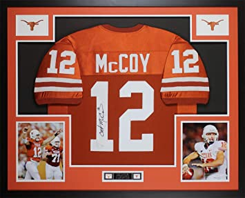 Colt McCoy Autographed Orange Longhorns Jersey - Beautifully Matted and  Framed - Hand Signed By Colt 43fe20bca