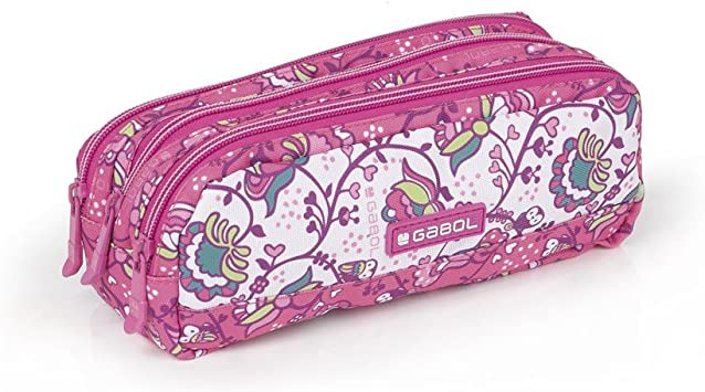 Estuche Grande Niña Gabol Magic Rosa: Amazon.es: Oficina y papelería