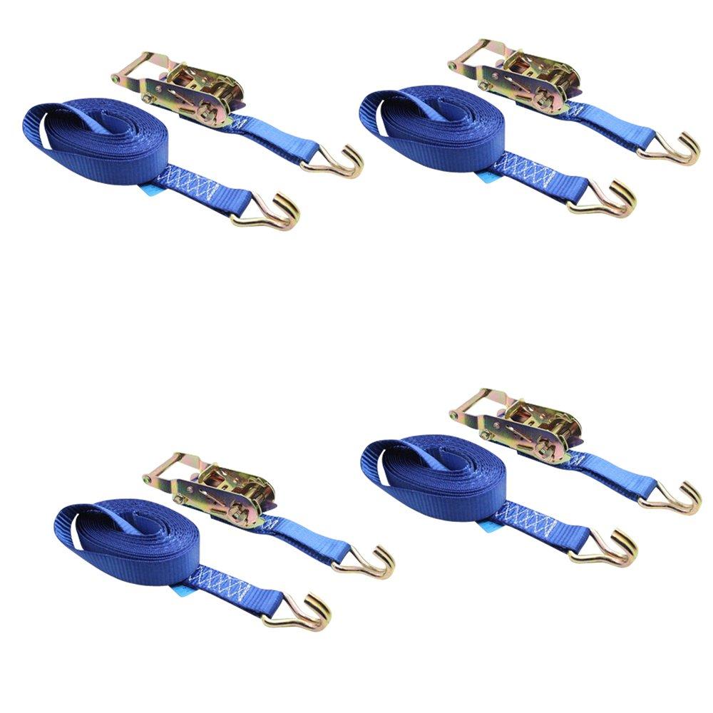 Sangles /à cliquet bleu DiversityWrap Sangles darrimage pour le chargement de remorque 1,5 T