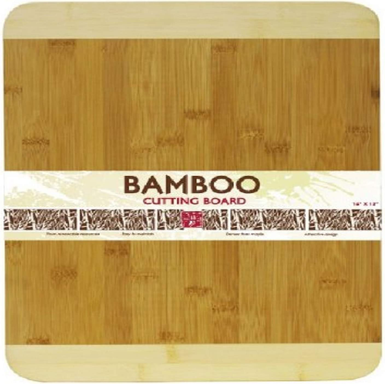 Home Basics Cutting Board, Bamboo, 12 by 16-Inch