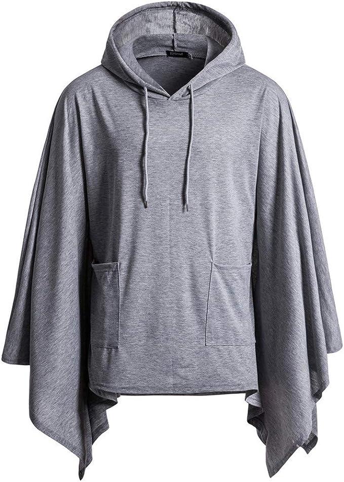 Mens Casual Solid Color Hoodie Long Sleeve Drawstring I Love You Grandpa Hoodie Sweatshirt