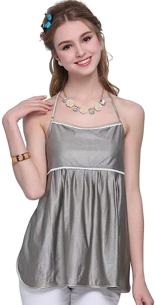 LIKUGD Anti-Radiation Clothing Maternity Tank Top Camisole Silver Fiber Pregnancy Protection Shield Clothes Lace for Pregnant Women