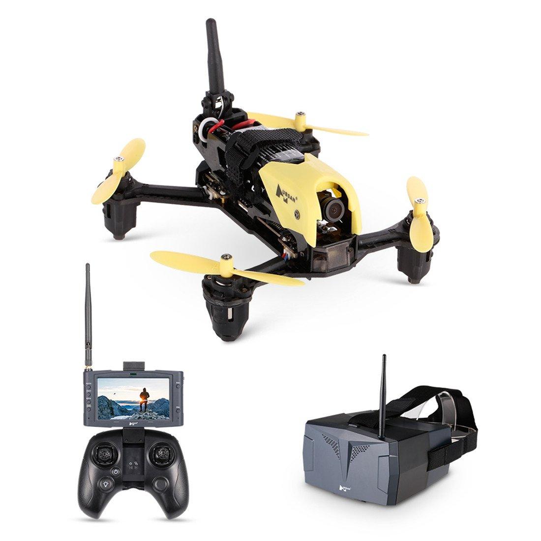 GEHOO GH Hubsan H122D X4 Storm FPV Racing Drone 4CH 3D Roll RTF HD 720P Quadcopter Fotocamera Compatibile con Fatshark Goggles (FPV Goggle Version  con Goggle + LCD Monitor + tra)