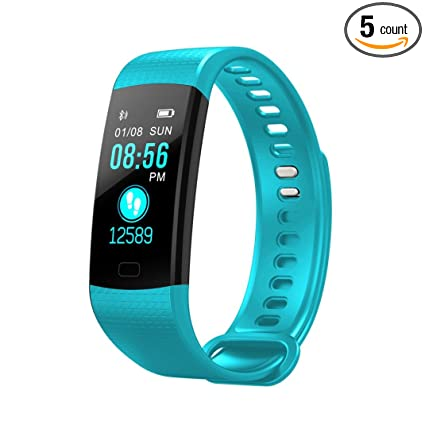 412333c9eeed Tiean Y5 Smart Watch Sports Fitness Activity Heart Rate Tracker Blood  Pressure Watch (Mint Green)