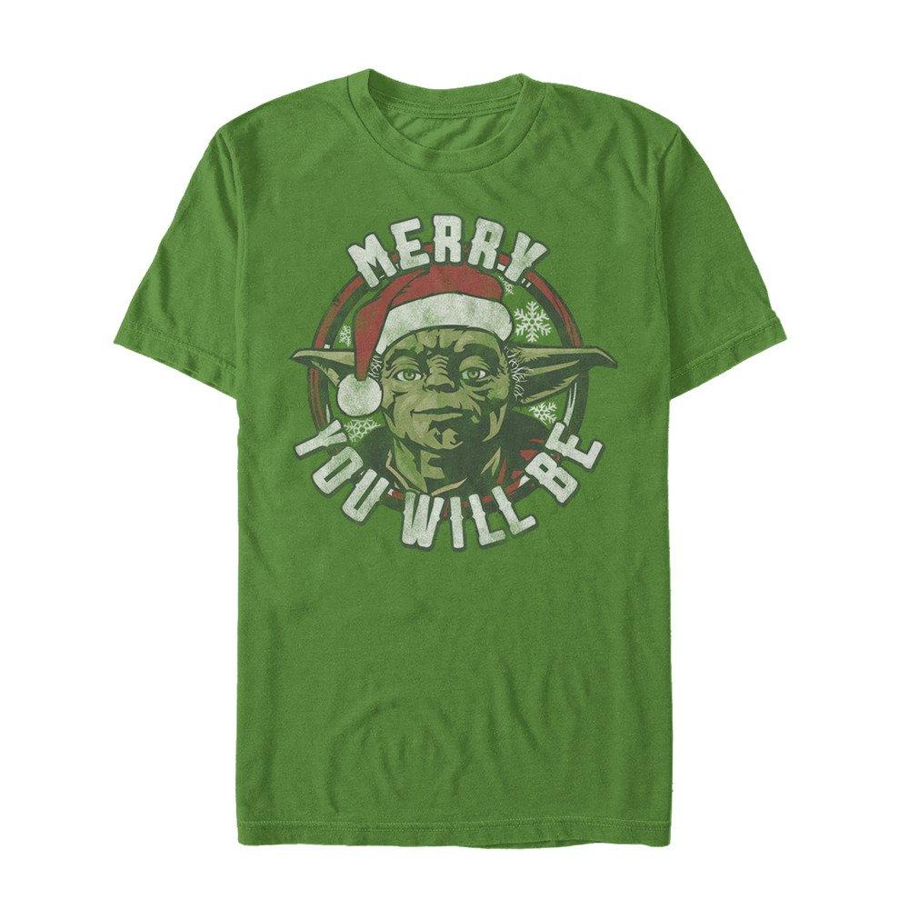 Star Wars Tee, Green//Officially Licensed Believe You Must Men's el, Large
