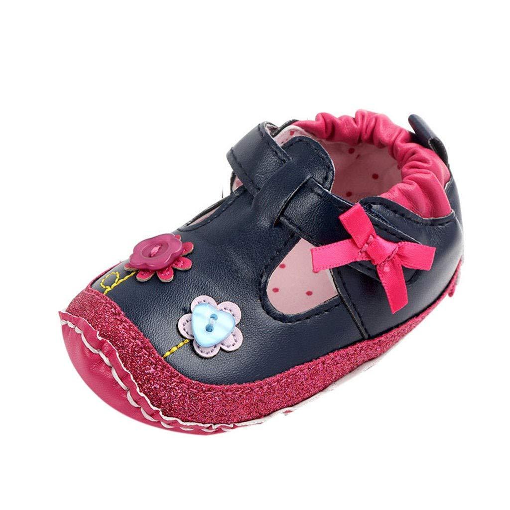 OCEAN-STORE Toddler Boys Puppy Cotton Warm Winter Non-Slip House Slipper Kids Athletic Running Shoes Knit Breathable Lightweight Walking Tennis Sneakers for girlsDark Blue6-12 Months