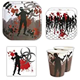 zombie supplies - Zombie Standard Party Packs (65+ Pieces for 16 Guests!), Zombie Party Supplies, Decorations, Birthdays, Tableware