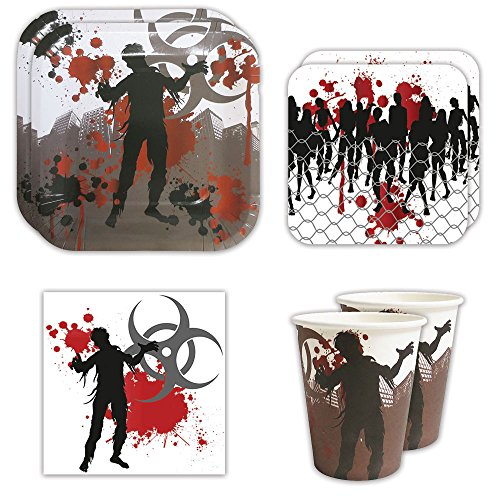 Zombie Standard Party Packs (65+ Pieces for 16 Guests!), Zombie Party Supplies, Decorations, Birthdays, (Party City Walking Dead)