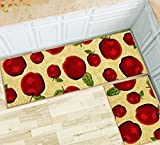 Magstonee Non-slip Rubber Backing Kitchen Rugs 2 Piece Carpet Doormat Rug Sets