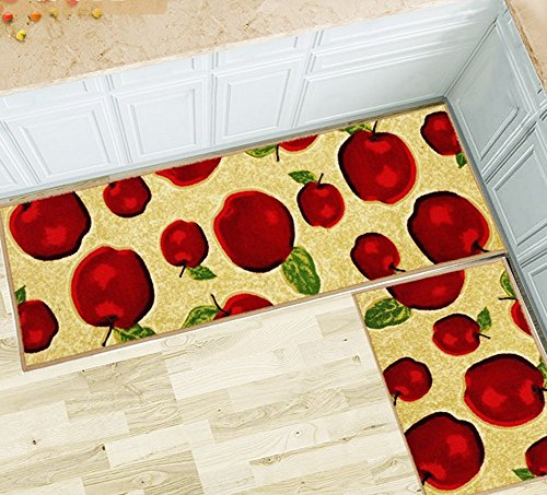 Magstonee Non-slip Rubber Backing Kitchen Rugs 2 Piece Carpet Doormat Rug Sets by magstonee