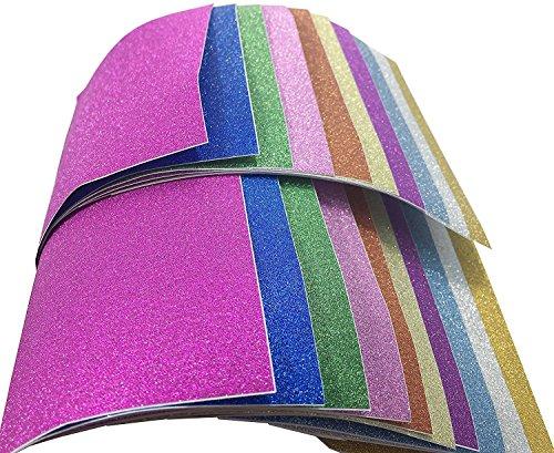 6 Sheet Glitter - Adhesive Sheets, Misscrafts 20 Sheets 6