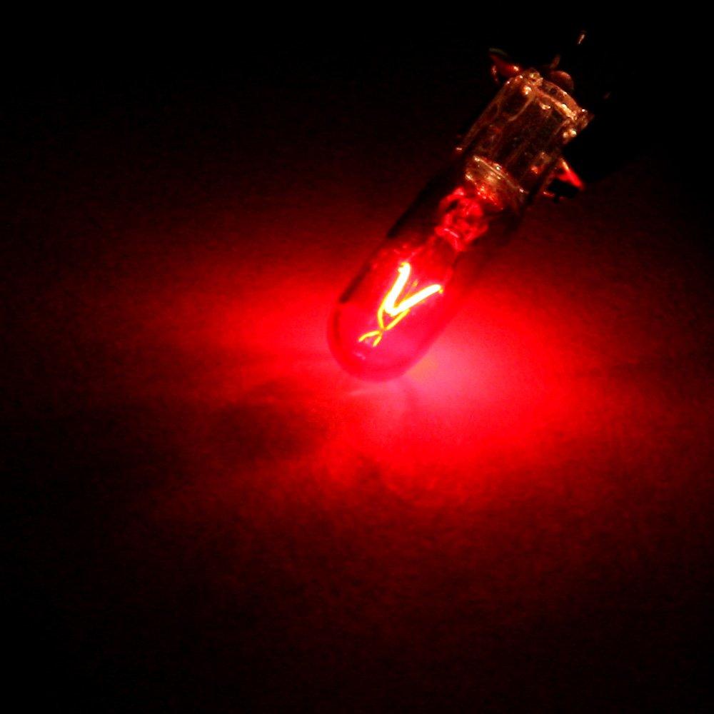 cciyu T5 Instruement Light 74 73 Halogen Light Bulb Instrument Cluster Gauge Dash Light Lamp,20 Pack yellow
