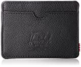 Herschel Supply Co. Charlie RFID Wallet, Black Pebbled Leather, One Size