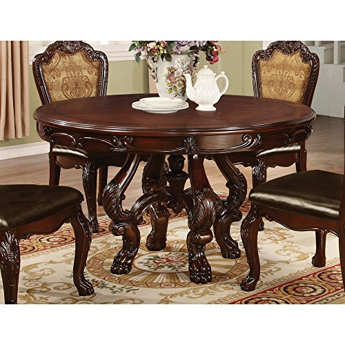 Coaster Benbrook Round Dining Table In Dark Cherry