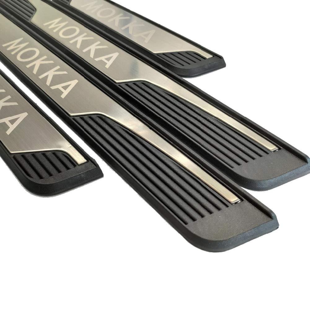 accesorios de dise/ño de autom/óviles LFOTPP Tiras de umbral de acero inoxidable protecci/ón de umbral para /Mokka X 2 SUV 4 unidades