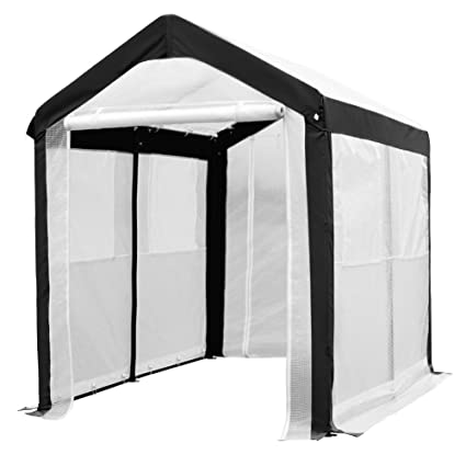 abba patio large walk in fully enclosed lawn and garden greenhouse with windows 6 x - Abba Patio