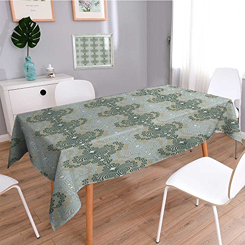 SCOCICI1588 Linen Water Resistant Tablecloth Art Ornament Ba