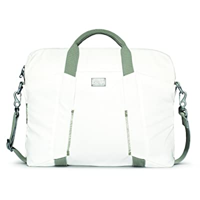 good BUILT City Collection 16-Inch Slim Laptop Bag, Off-White